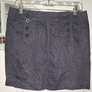 Cynthia Rowley Linen Gray Mini Skirt 4